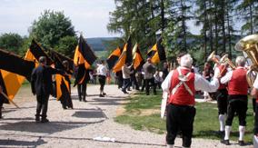 Bannerzug beim Bergfest